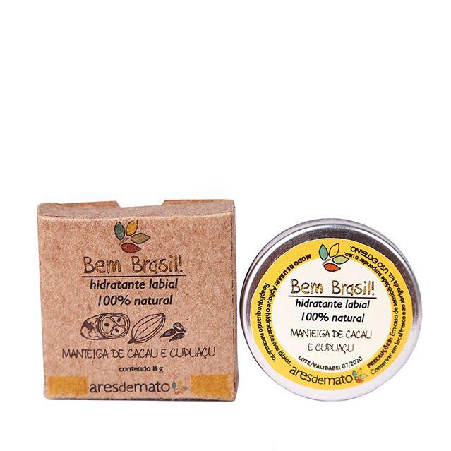 Hidratante Labial com Manteiga de Cacau e Cupuaçu 8g - Vegano e Natural - Ares de Mato