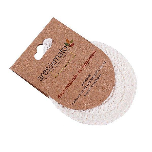 Disco de crochê Lavável e Reutilizável - 8 cm - Vegano e Natural - Ares de Mato