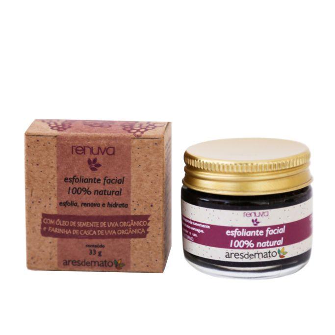Esfoliante Facial Natural Renuva 33g - Vegano e Natural - Ares de Mato