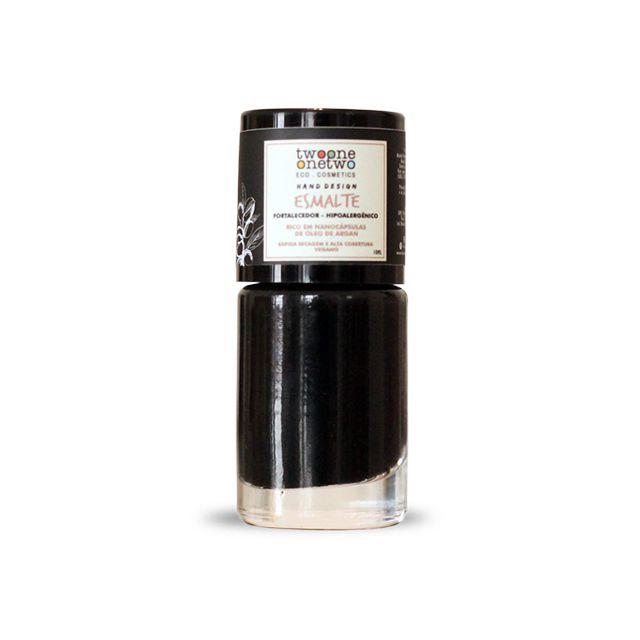 625 - Esmalte Hipoalergênico Black Onyx- 10 ml - Vegano e Natural - TWOONE ONETWO