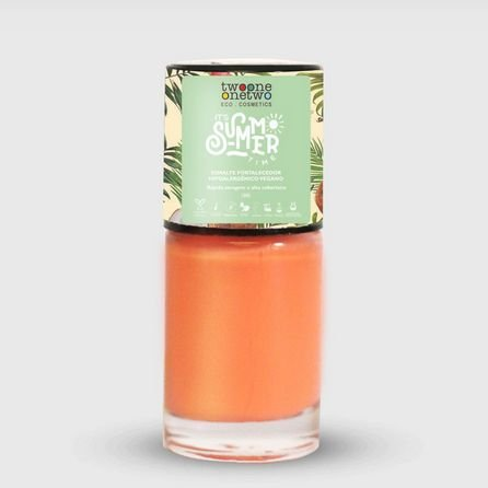636 - Esmalte Hipoalergênico Coral Pink - 10 ml - Vegano e Natural - TWOONE ONETWO