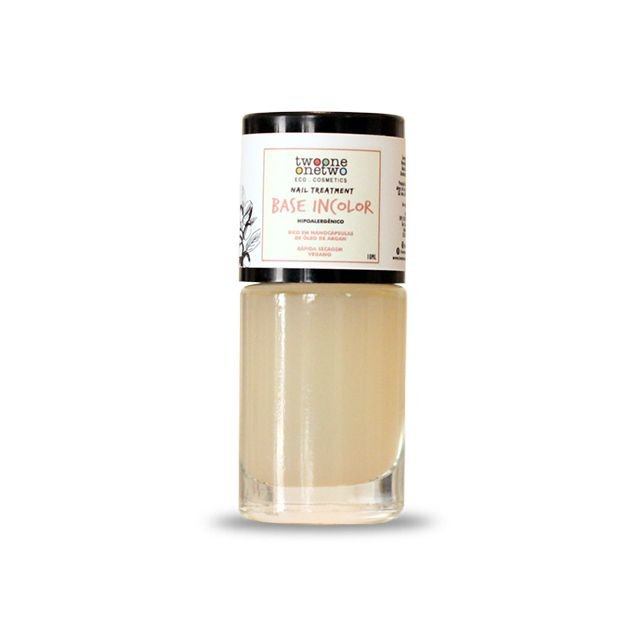 891 - Esmalte Hipoalergênico Base Incolor - 10 ml - Vegano e Natural - TWOONE ONETWO