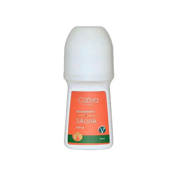 Desodorante Natural Rollon de Sálvia Orgânico e Vegano 70 ml - CATIVA NATUREZA