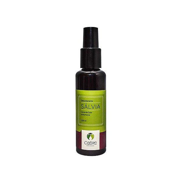 Desodorante Natural Spray de Sálvia Orgânico e Vegano 120 ml - CATIVA NATUREZA
