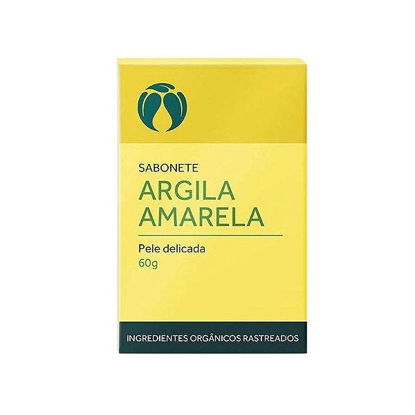 Sabonete Argila Amarela para Pele Delicada Orgânico Natural e Vegano 60g - CATIVA NATUREZA