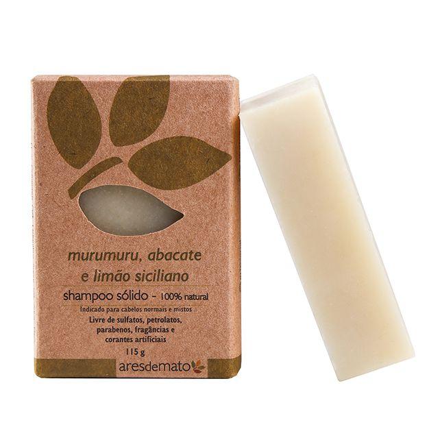 Shampoo Sólido em Barra de Murumuru, Abacate e Limão Siciliano 115g - Vegano e Natural - Ares de Mato