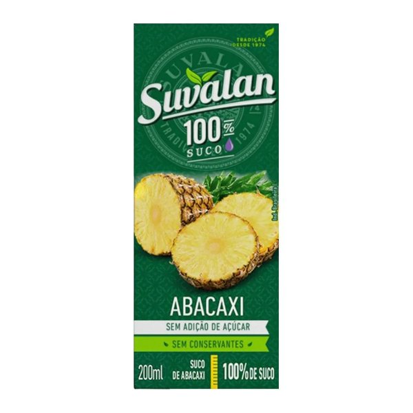 Suco Abacaxi - Suvalan 200ml