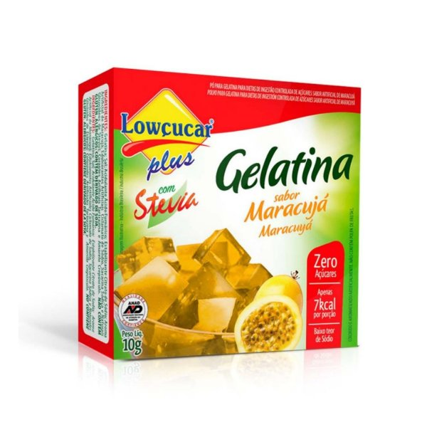 Gelatina de Maracujá com Stevia - Lowçucar 10gr