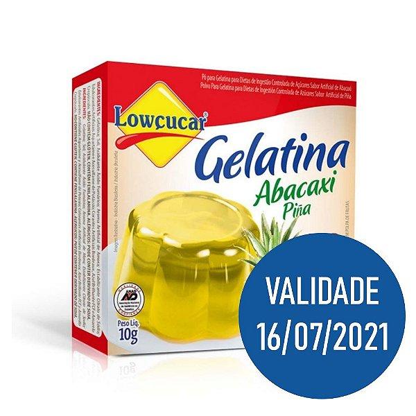 Gelatina Zero Abacaxi - Lowçucar 10gr