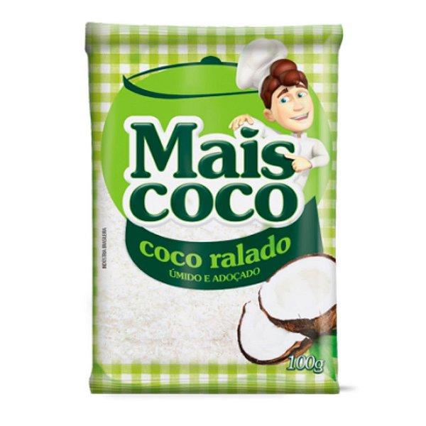 Coco Ralado Úmido e Adoçado - Mais Coco 100gr
