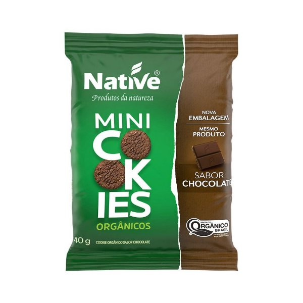 Mini Cookie Orgânico Chocolate - Native 40gr