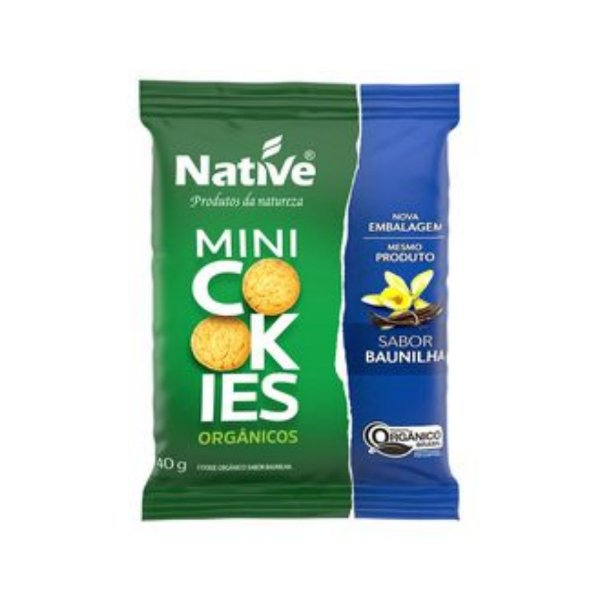 Mini Cookie Orgânico Baunilha - Native 40gr