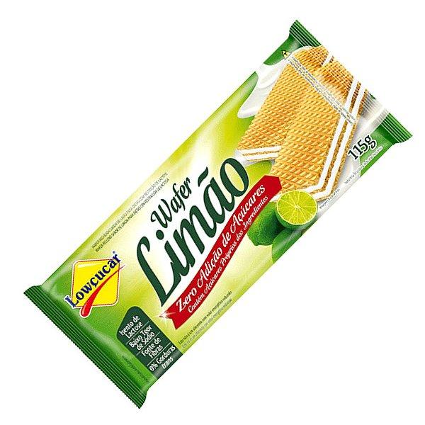 Wafer Zero Açúcar Limão - Lowçucar 115gr