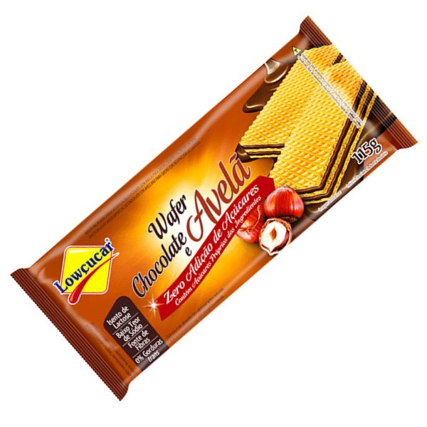 Wafer Zero Açúcar Chocolate e Avela - Lowçucar 115gr