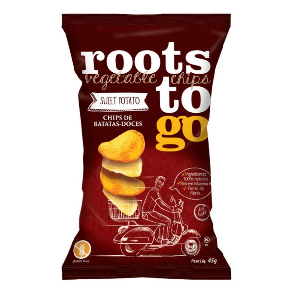 Chips De Batata Doce - Roots To Go 45gr