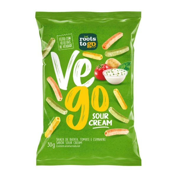 Snack Vego Sour Cream - Roots To Go 30gr