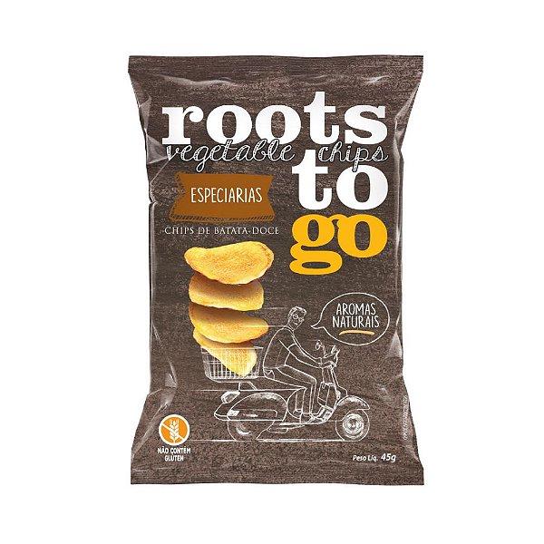 Chips de Batata Doce Sabor Especiarias - Roots To Go 45gr