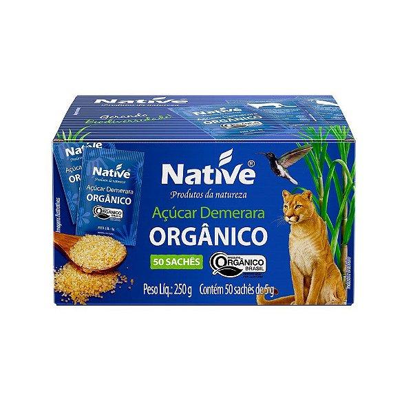 Açúcar Demerara Orgânico 50 Sachês - Native 250gr