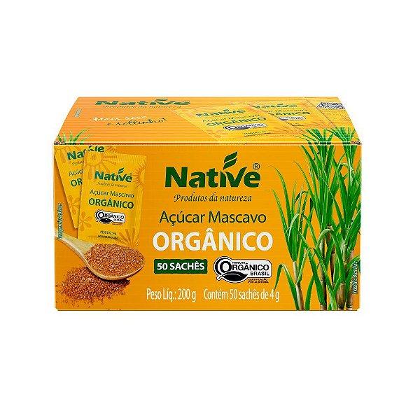 Açúcar Mascavo Orgânico 50 Sachês - Native 200gr