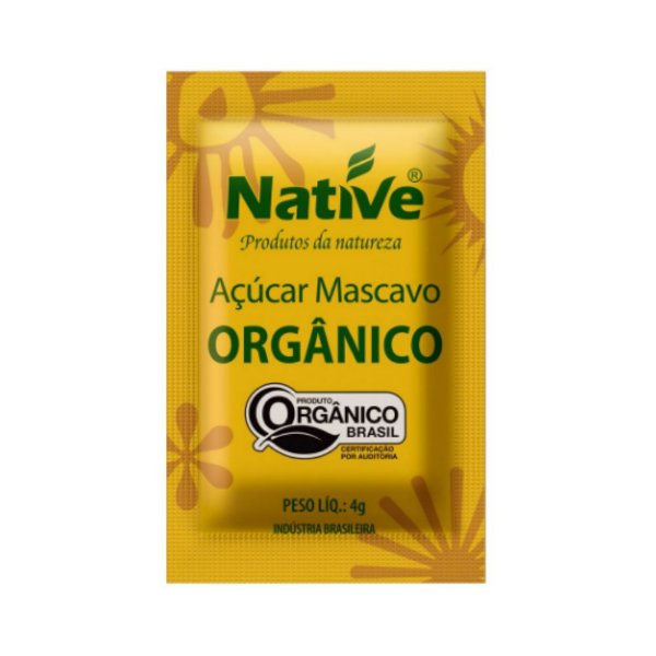 Açúcar Mascavo Orgânico Caixa Com 250 Sachês - Native 4gr