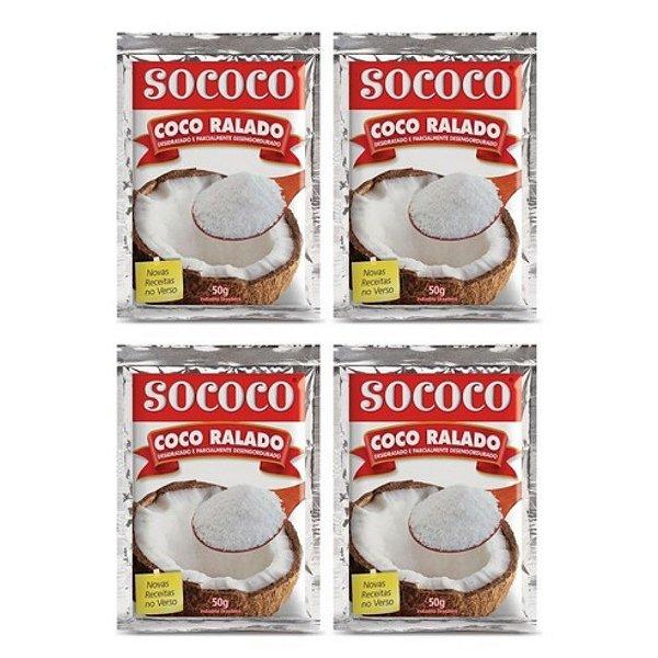Kit C/ 4 Unidades Coco Ralado - Sococo 50gr