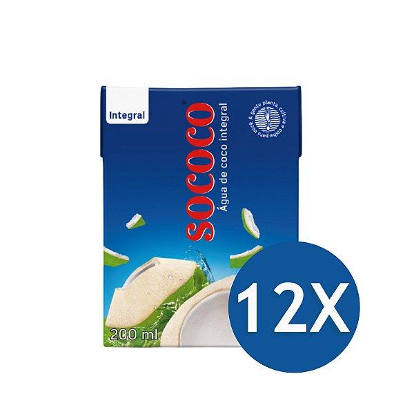 Kit C/ 12 Unidades Água De Coco - Sococo 200ml