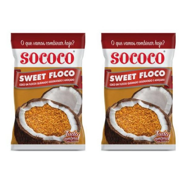 Kit C/ 2 Unidades Sweet Floco Queimado - Sococo 1kg