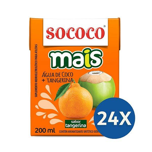 24 unidades Água de Coco Mais Tangerina - Sococo 200ml