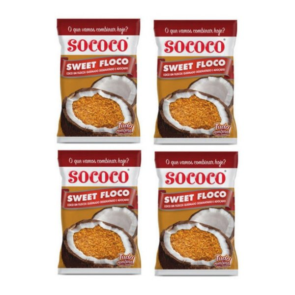 4 Unidades Sweet Floco Queimado - Sococo 100gr