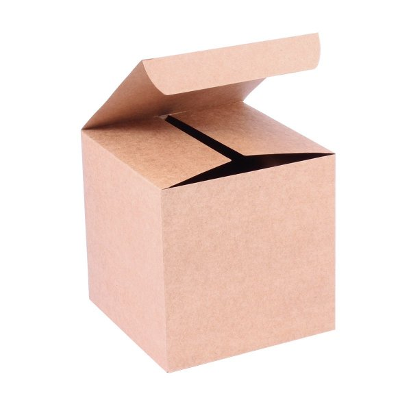 Caixa de presente 13x13x13cm - kraft