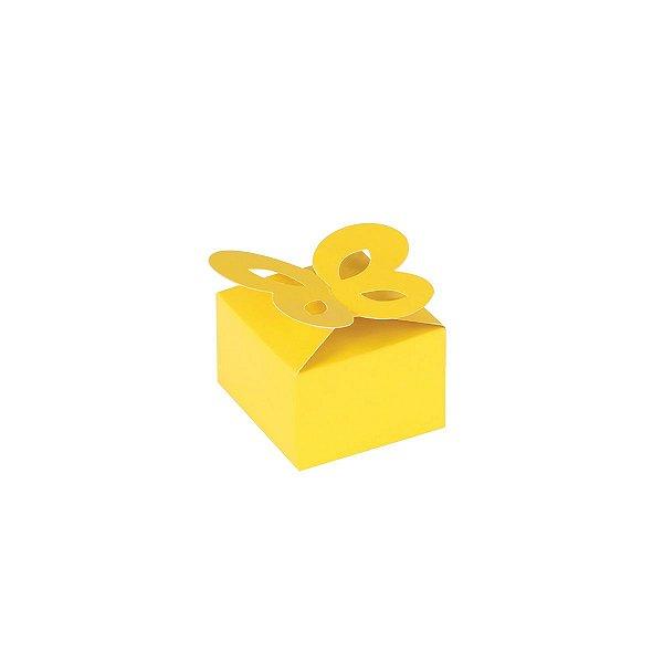Caixa de presente 3x4,5x4,5cm - amarela