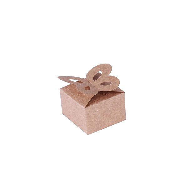 Caixa de presente 3x4,5x4,5cm - kraft