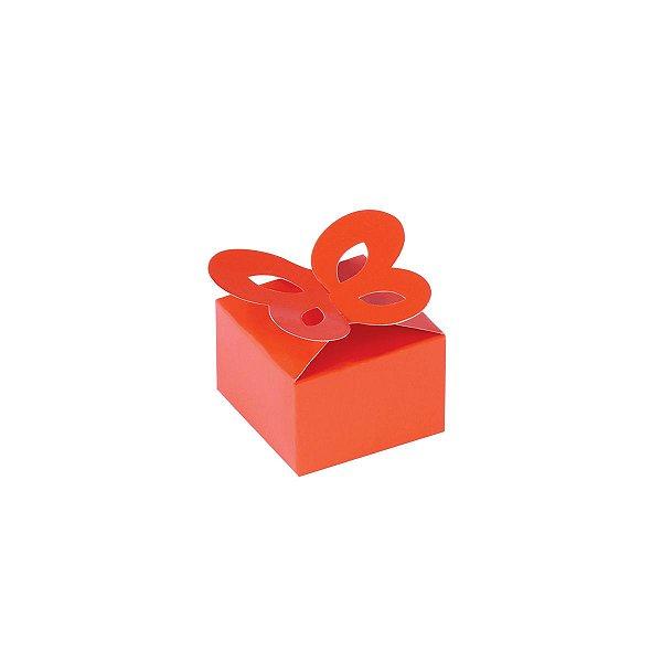 Caixa de presente 3x4,5x4,5cm - laranja