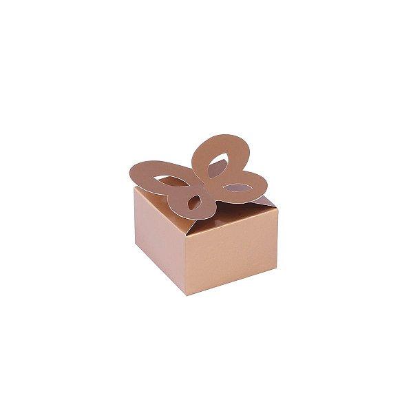 Caixa de presente 3x4,5x4,5cm - ouro