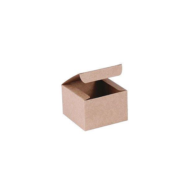 Caixa de presente 5,9x5,9x4cm - kraft