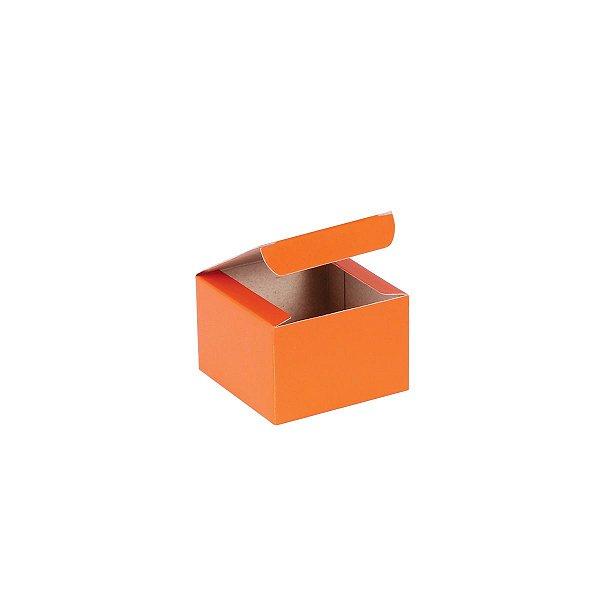 Caixa de presente 5,9x5,9x4cm - laranja