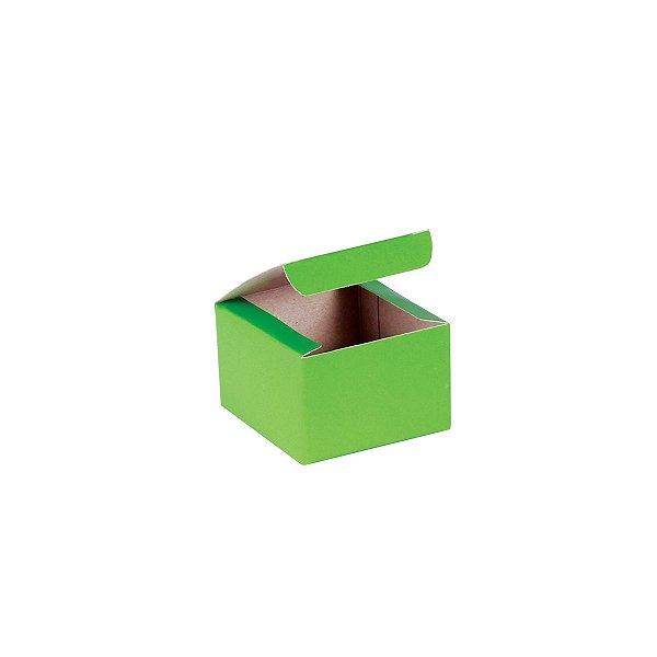 Caixa de presente 5,9x5,9x4cm - verde