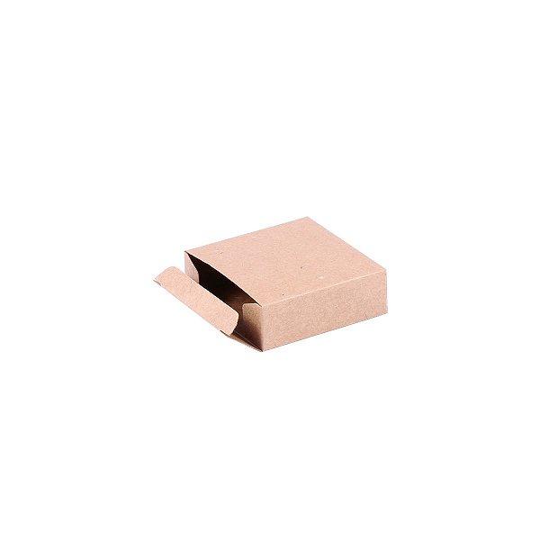 Caixa de presente 6,5x6,5x2,1cm - kraft