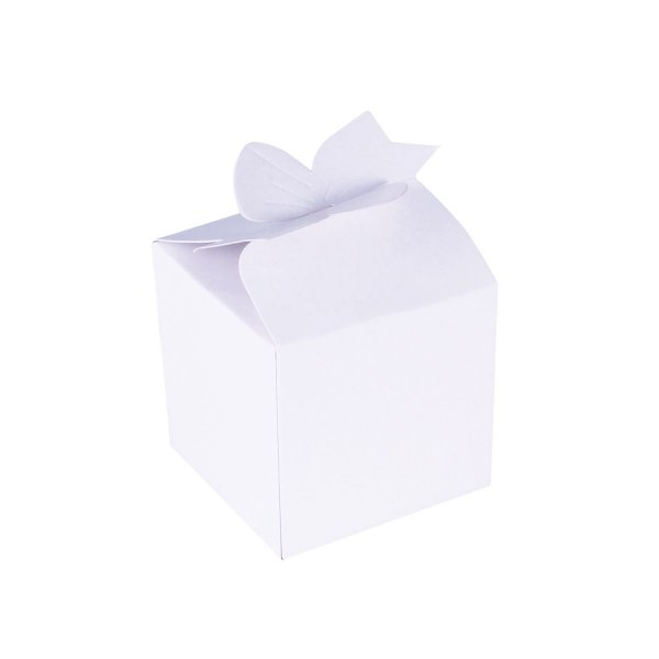Caixa de presente 6,5x6,5x6cm - branca