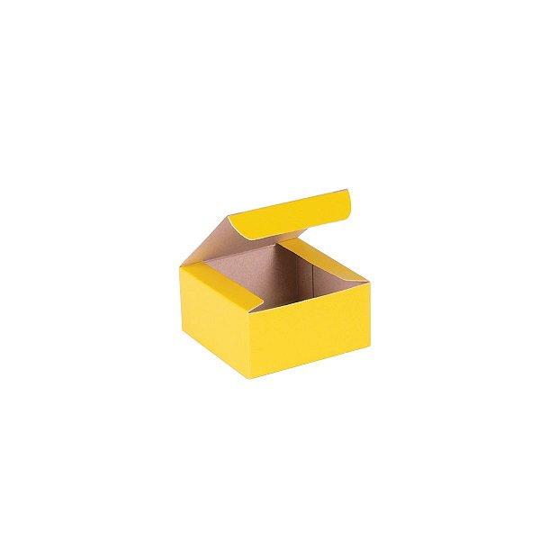 Caixa de presente 6x6x3cm - amarela