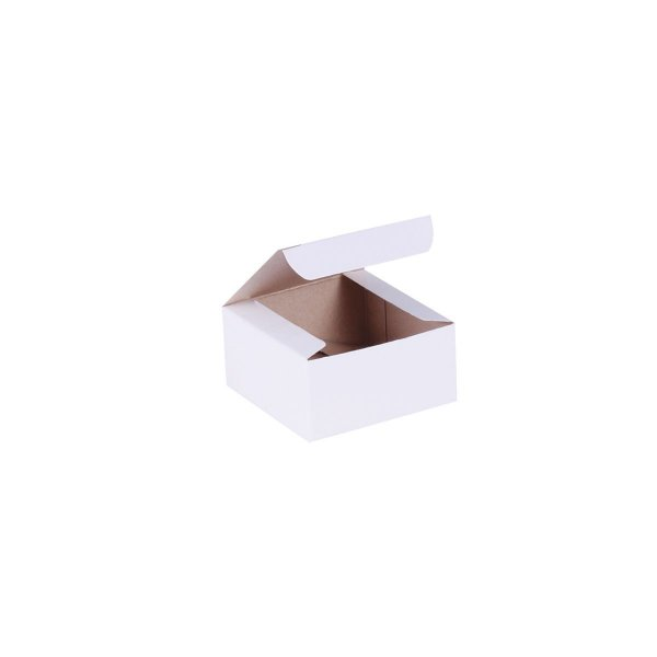 Caixa de presente 6x6x3cm - branca