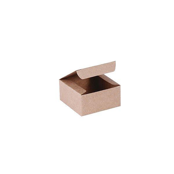Caixa de presente 6x6x3cm - kraft