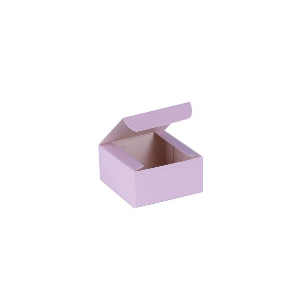 Caixa de presente 6x6x3cm - lilás