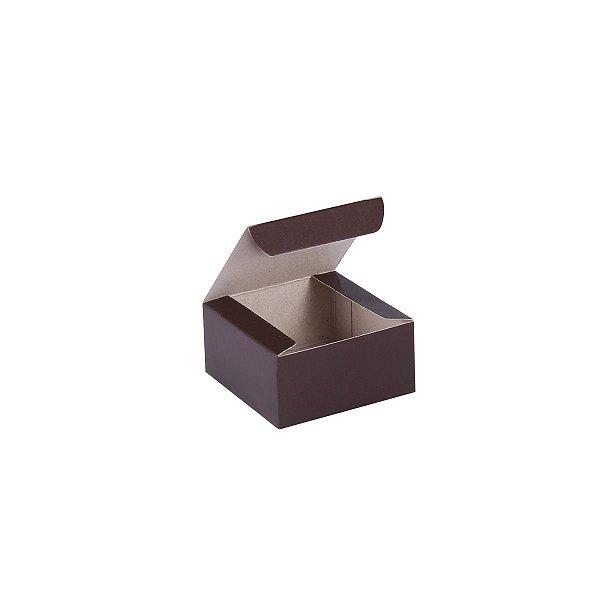 Caixa de presente 6x6x3cm - marrom