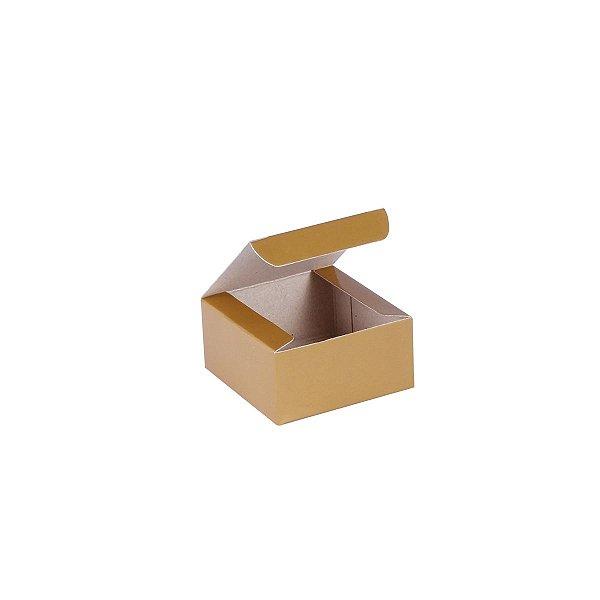 Caixa de presente 6x6x3cm - ouro