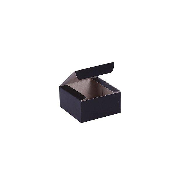 Caixa de presente 6x6x3cm - preta