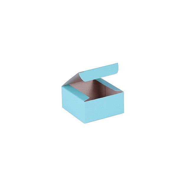 Caixa de presente 6x6x3cm - turquesa