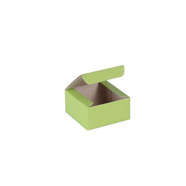 Caixa de presente 6x6x3cm - verde
