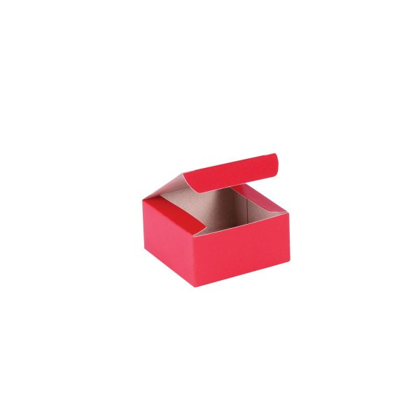 Caixa de presente 6x6x3cm - vermelha