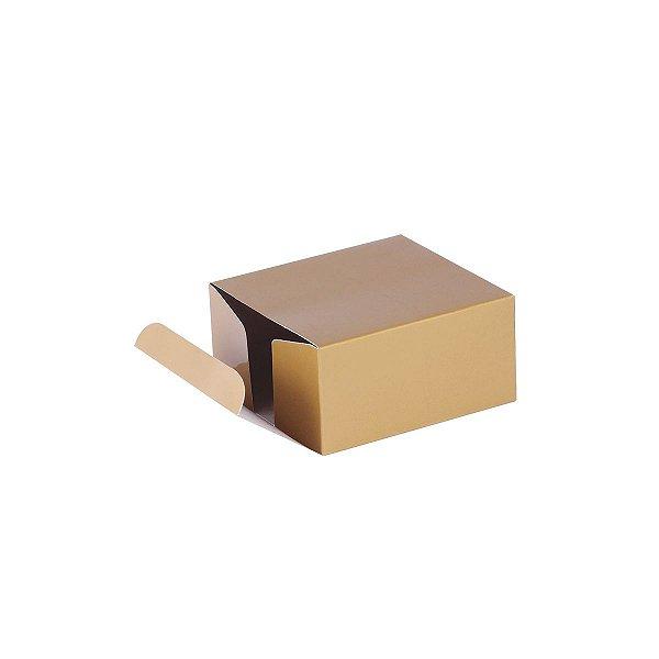 Caixa de presente 8x7,5x4cm - ouro